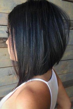 Coupe Au Carre Plongeant Degrade Coupe De Cheveux Cheveux Cheveux Mi Long