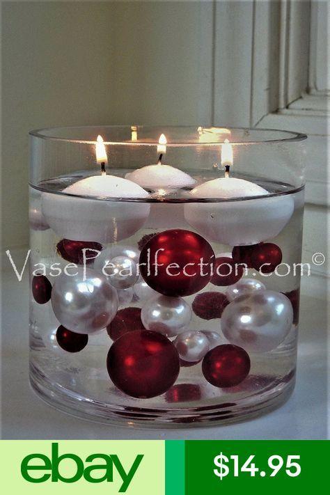 Vase Pearlfection Ebayvases Home Garden Xmas Centerpieces Christmas Centerpieces Christmas Table Decorations