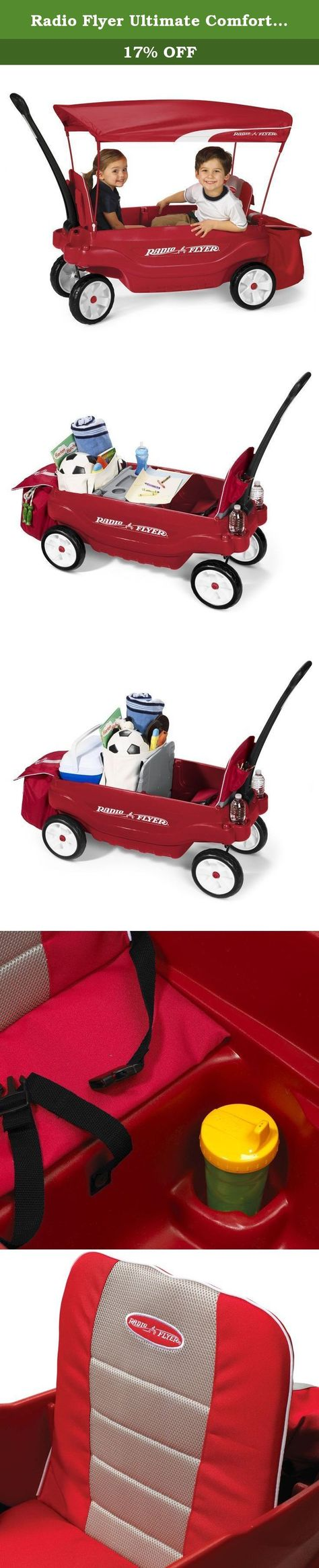 Radio Flyer Ultimate Comfort Wagon Ultimate Comfort Wagon This Wagon Combines The Best In Versatility And Comfort Offer Bag Storage Cool Toys Storage Options
