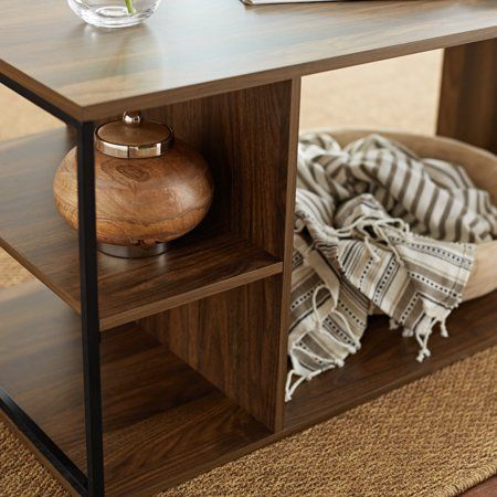 Awesome Mainstays Kalla Wood And Metal Coffee Table Multiple Colors Machost Co Dining Chair Design Ideas Machostcouk
