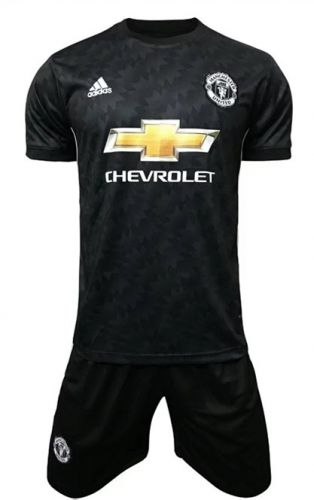 innovative design 2253a d906f 2017-18 Manchester United Away Black Soccer Uniform ...