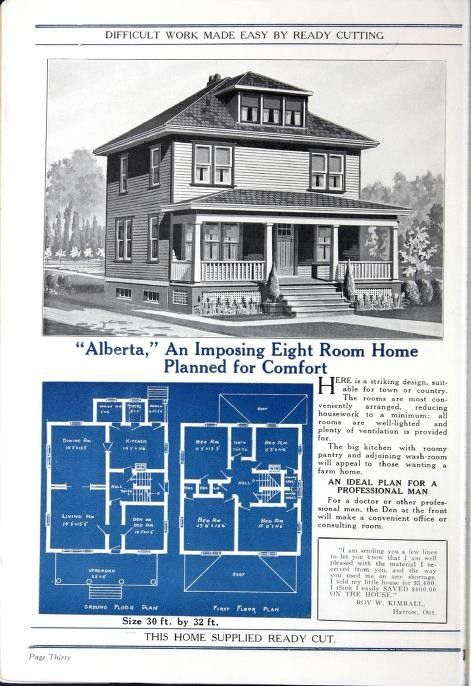 Halliday Homes 1927 Alberta Architectural House Plans Vintage House Plans Historic Homes