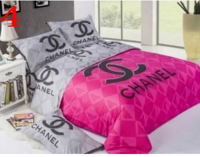 Copripiumino Chanel.King Size Luxury Bedding Set Duvet Cover 4 Pcs Bed Set Brand