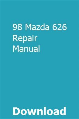98 Mazda 626 Repair Manual Repair Manuals Owners Manuals Ford Endeavour