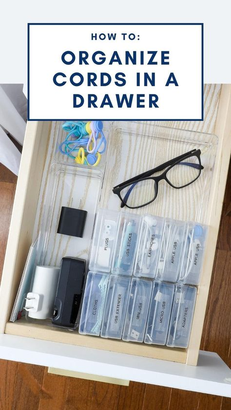 How to Organize Cords In a Drawer