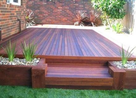 17 Trendy Backyard Deck Ideas Ground Level Planter Boxes Backyard