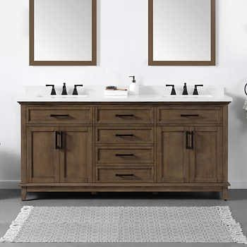 Virtu Usa Caroline Parkway 78 Inch Double Sink Bathroom Vanity Set In Grey W Round Undermount Sink Italian Carrara Bathroom Vanity Store Unique Bathroom Vanity Cheap Bathroom Vanities 72 Inch Bathroom Vanity