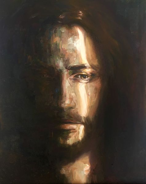 """alexandr-a-rt: """" """"He is despised and rejected of men; a man of sorrows, and acquainted with grief: and we hid as it were our faces from him; he was despised, and we esteemed him not."""" Isaiah 53:3 oil on canvas 16″x 24″ """""""