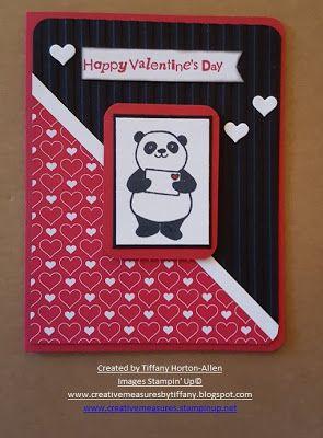 Party Pandas Valentine Valentines Cards Valentines Day Cards Handmade Panda Card