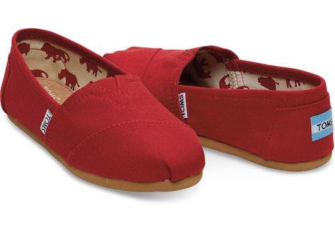 6089a9d0067 Toms Classic Canvas Women s Shoes RED