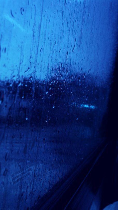 Rainy Nights Wallpaper Lockscreen Blue Fond Ecran Bleu Esthetique Bleue Tableau Bleu