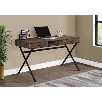 Monarch Specialties Inc Writing Desk Colour Brown Metal Desks