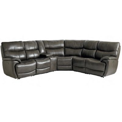 Bassett 3713 Club Level Brookville Leather Motion Sectional With Power Available At Hickory Reclining Sectional Power Reclining Sectional Sofa Power Recliners