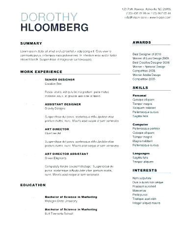 76 Elegant Photography Of Resume Examples For Highschool Students