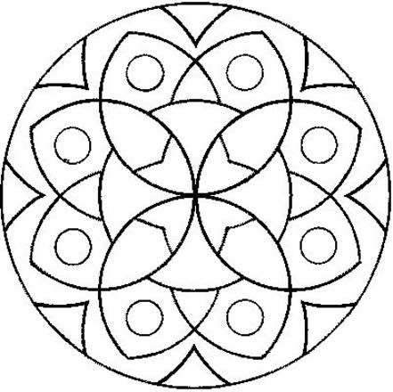 easy mandala coloring pages # 29
