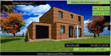 Maison Toit Plat Et Toiture Terrasse Bac Acier Ou Siplast Acrotere Et Couvertine Par Votre Architecte Constructeur Ossature Bois Des Plans Photo En 2020
