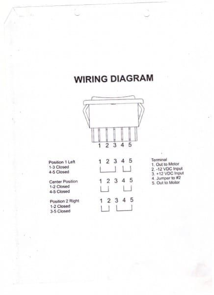 5 Pin Switch Wiring Diagram