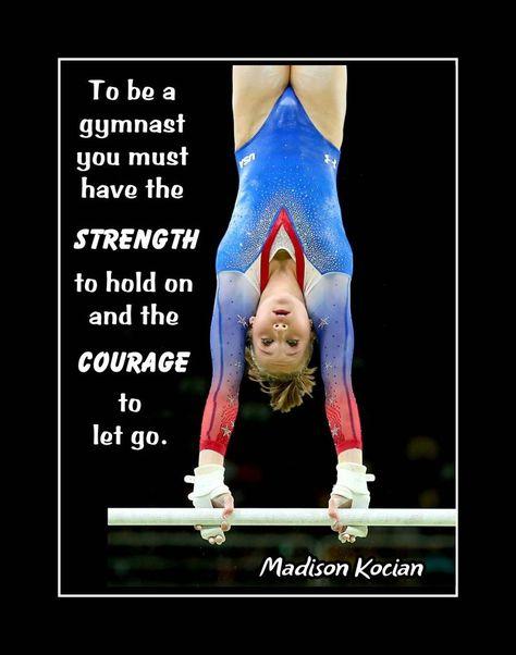 Inspirational Gymnastics Wall Art Gift, Madison Kocian Motivational Poster, Photo Quote Wall ...