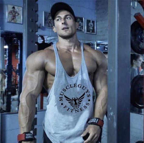 be137190e5870c Fitness bodybuilder superman cotton sleeveless t shirt workout clothing Y  back 1cm stringer men tank tops sexy undershirt man