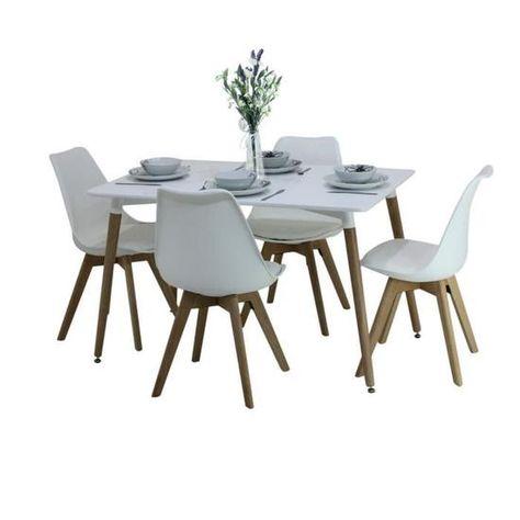 Ensemble Salle A Manger Moderne Lorenzo Table Blanche 4