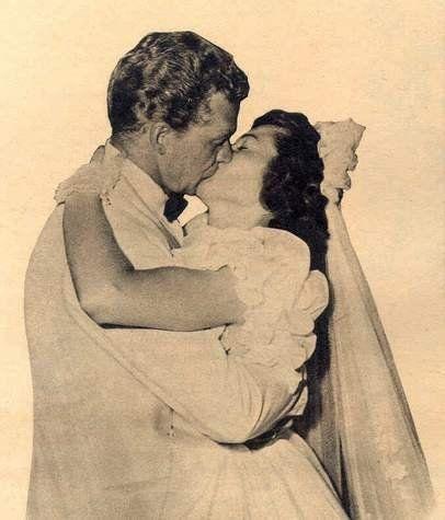 Bill Williams & Barbara Hale on their wedding day.