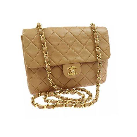 63244472d847 Chanel beige square medium crossbody bag measures 8 x 5.5 x 2.5