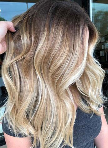49 Perfectly Hot Blonde Balayage With Medium Length Hair 2018