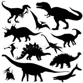 Conjunto De Siluetas De Dinosaurios Imprimibles De Dinosaurios Imagenes De Dinosaurios Infantiles Dinosaurios Vector dinosaurio dinosaur extinct animal black and white silhouette. conjunto de siluetas de dinosaurios