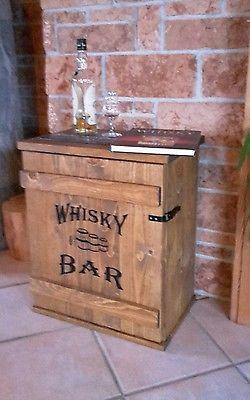 Mini Bar Whiskey Frachtkiste Shabby Vintage Schrank Whisky Couchtisch Massiv Schrank Selber Bauen Kellerbar Design Schrank Bauen