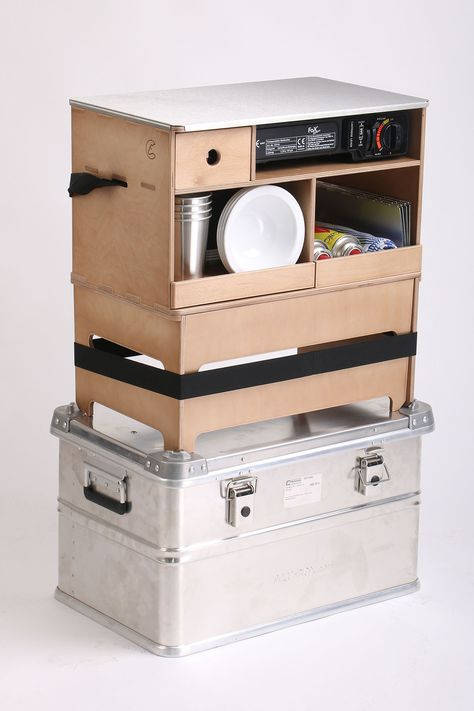 Camping Cuisine Alu Küchenbox Camping Armoire Penderie pliable Vent cuisiner