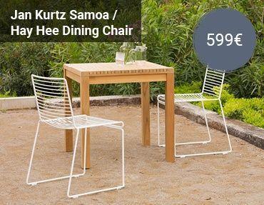 Jan Kurtz Samoa Hay Hee Stuhl Gartensets Kreativ Kombiniert