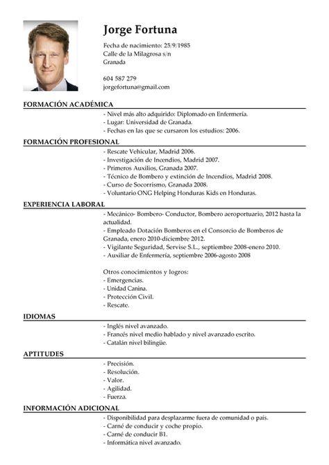 Free Curriculum Vitae Template Word Download CV template Oom - informatica administrator sample resume