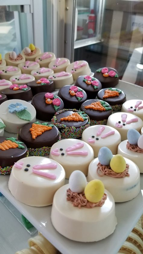 Walk-ins welcome. Open - 7 days a week. Chocolate Covered Treats, Chocolate Dipped Oreos, Easter Chocolate, Chocolate Covered Strawberries, Hot Chocolate Mix, Chocolate Art, Easter Cupcakes, Easter Cookies, Easter Treats