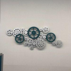 Kinetic Wall Sculpture Mechanical Wall Art Decor Rotating Etsy In 2021 Gear Wall Clock Wooden Gears Steampunk Wall Art