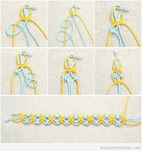 On a vu des nombreux bracelets fabriqués en fil de queue de rat, mais celui-ci est particulière, on pense que c'est parce que il y a des «trous» ou espaces et la plint…
