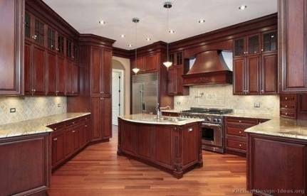 Super Kitchen Floor Ideas With Dark Cabinets Hoods 59 Ideas Mahogany Kitchen Solid Wood Kitchen Cabinets Cherry Wood Kitchen Cabinets