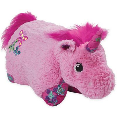Pillow Pets Colorful Unicorn Pillow Pet In Pink In 2020 Animal