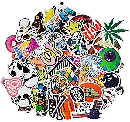 100 pcs different desgin Skateboard Stickers Graffiti Laptop Sticker Luggage Car