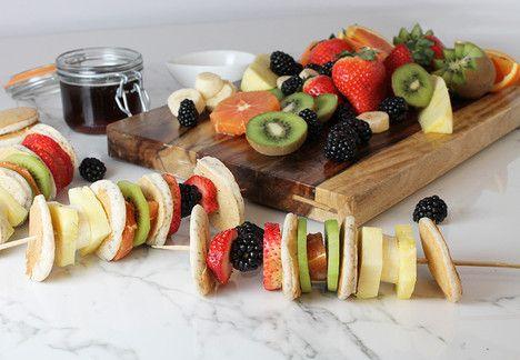 Aldi Us Rainbow Fruit And Pancake Skewers Rainbow Fruit Fruit Yogurt Food