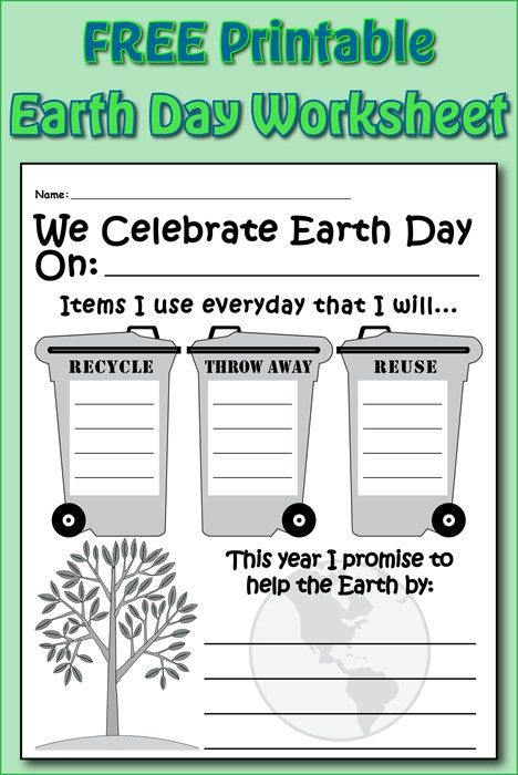Earth Day Writing Activity Printable With Images Earth Day