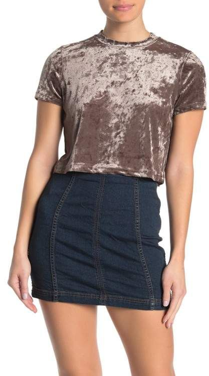 Cotton On Velvet Short Sleeve T Shirt Nordstrom Rack Velvet Shorts Clothes Sleeves