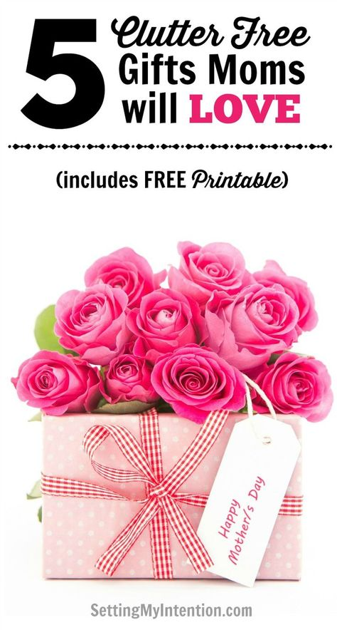 5 Clutter Free Gifts For Mom Great Ideas Mothers Day Birthdays Or Christmas