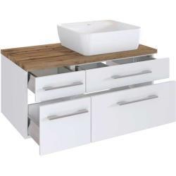Waschbeckenschrank In Rosenholzfarben Zwei Schubladen Furnitarafurnitara Storage Bench Decor Home Decor