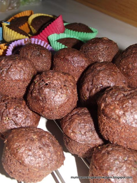 Healthy Toddler Choc Muffins....A cup and a half of green vegetables in this muffin mix...and they will never know!