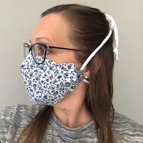Alana Lee Designs ~ Custom Photo Products with Personality: How to Make a 3D Origami Fabric Face Mask 3d Origami, Fabric Origami, Easy Face Masks, Diy Face Mask, Sewing Hacks, Sewing Tutorials, Sewing Projects, Mascara 3d, Sewing Machine Thread