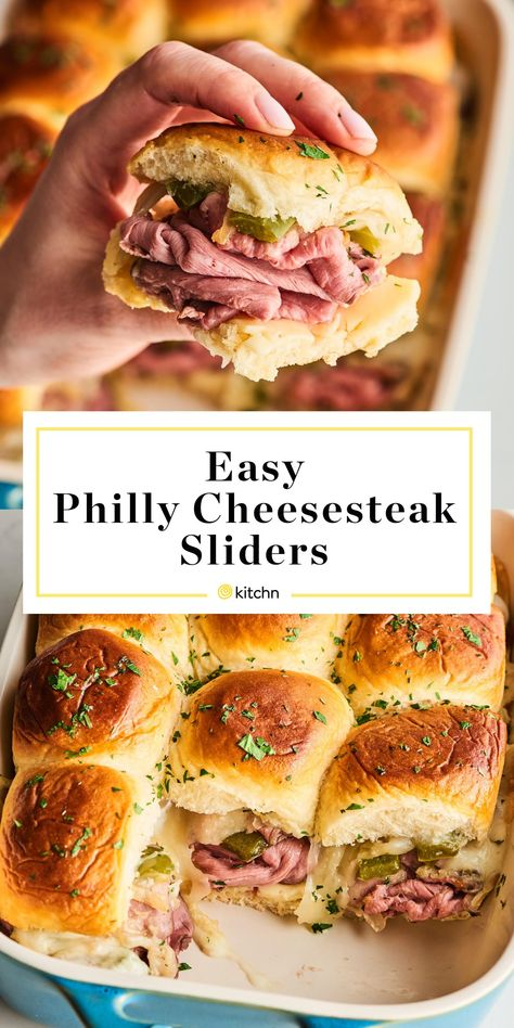 Between the easy assembly, the gooey, melted cheese, and the sweet, fluffy buns, there's a lot to love about this super easy Philly cheesesteak sliders. Here's how to make them.