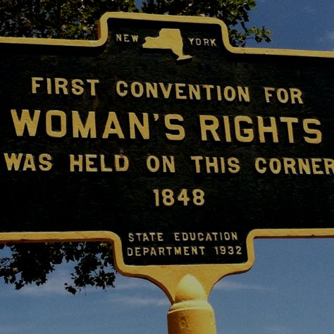 """an introduction to the first womens rights convention in seneca falls new york Introduction: the resolution calling for woman suffrage had passed, after much debate, at the seneca falls convention in 1848, convened by elizabeth cady stanton and lucretia mott in """"the declaration of sentiments,"""" a document based upon the declaration of independence, the numerous demands of these early activists were elucidated."""