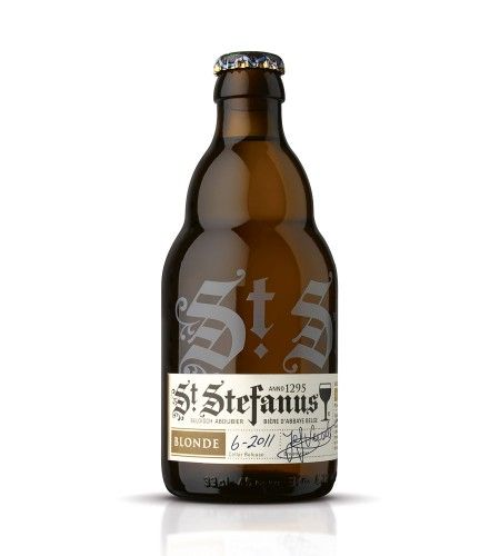 Another great blackletter example on a beer bottle. Black is Back!