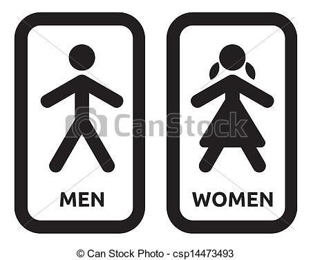 Senales Para Banos De Damas Y Caballeros Women Signs Men And Women