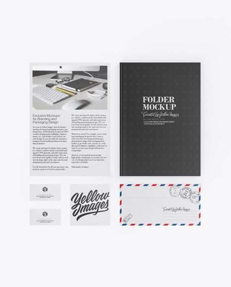 Download Folder W Papers Business Cards Envelope Mockup In Stationery Mockups On Yellow Images Object Mockups In 2020 Mockup Free Psd Business Card Mock Up Stationery Mockup PSD Mockup Templates
